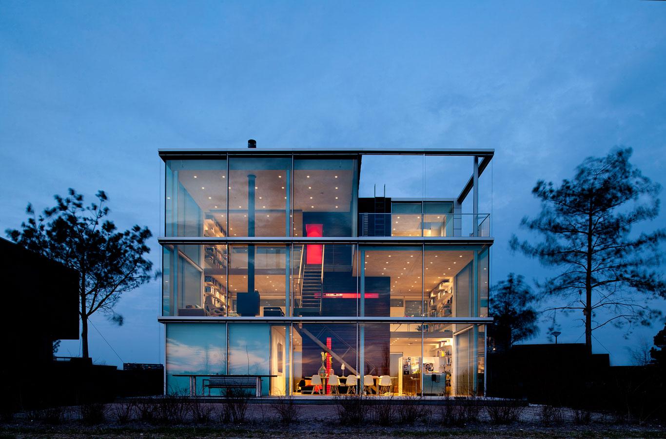 9 espacios de cristal for Casa amsterdam