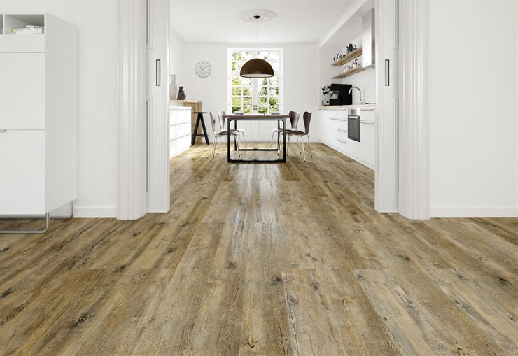 Con aspecto de madera natural. Pavimento vinílico Scala 30 Connect, de DLW Flooring