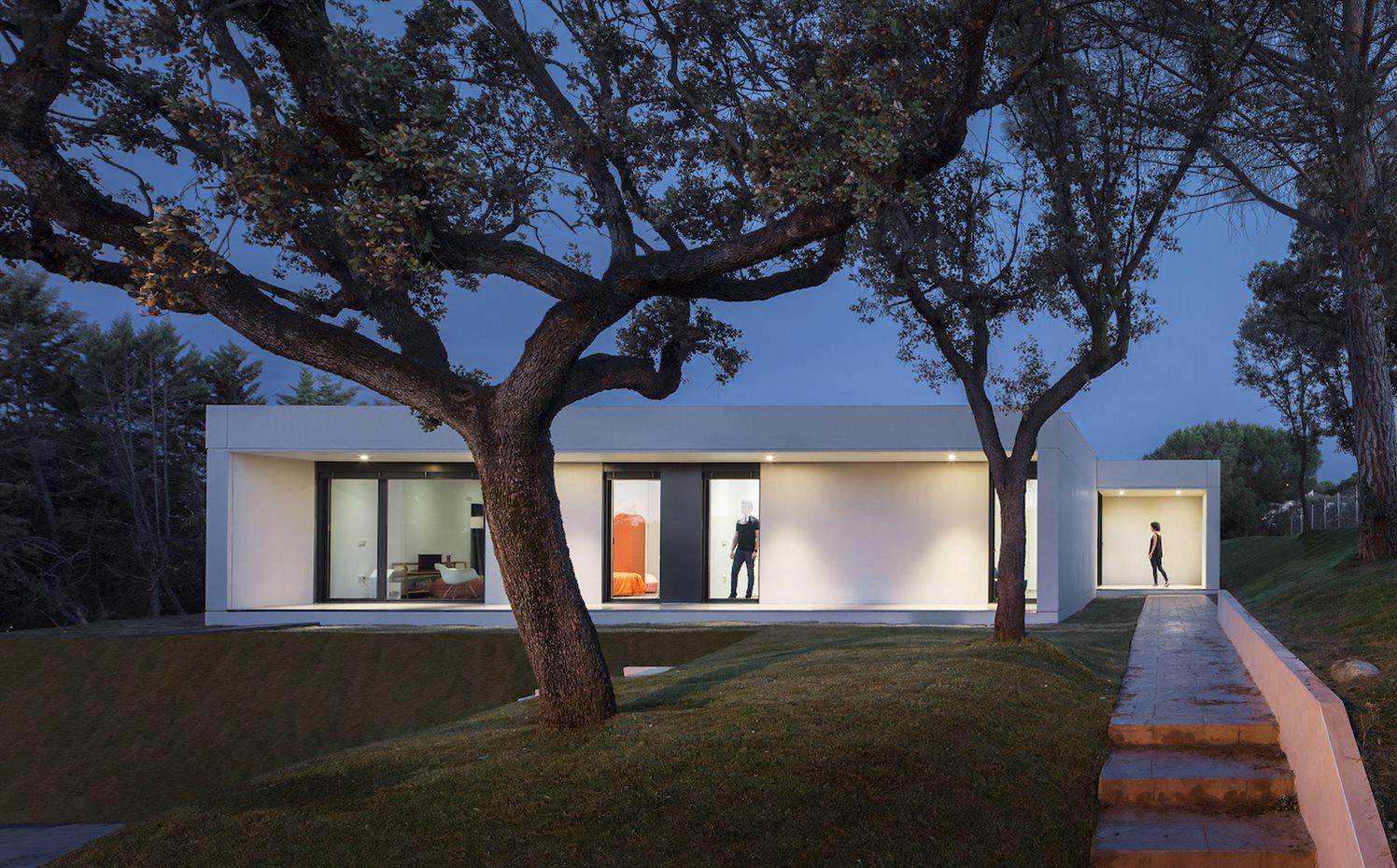 Casa prefabricada de diseño en Las Rozas (Madrid) de Homm