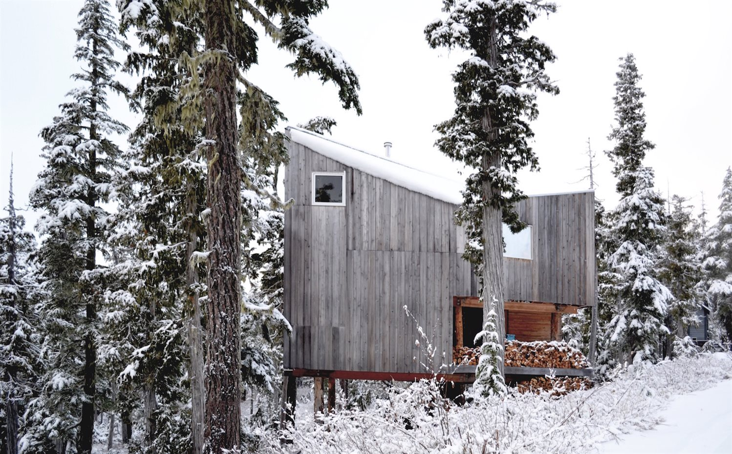 Scott-and-Scott-Architects-Alpine-Cabin-EXTERIOR-SIDE. [04] Reservada para amantes del 'snowboard'