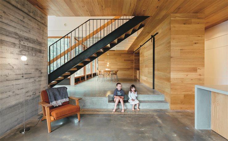 Los componentes industrializados suelen incorporar los sistemas de aislamiento para reducir al mínimo el consumo energético. Proyecto de Moloney Architects