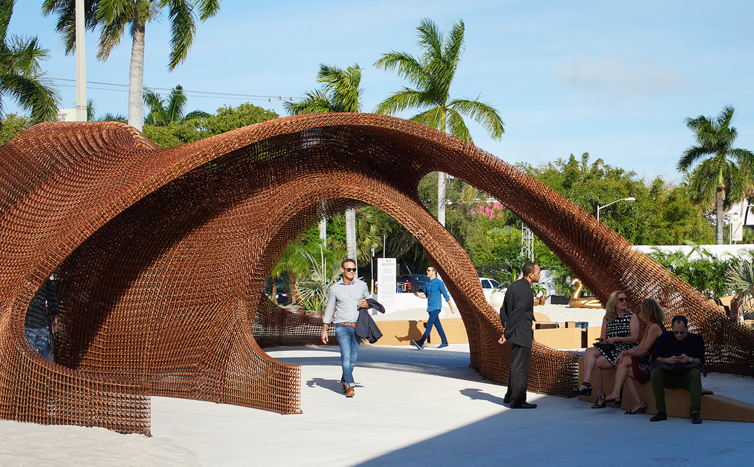 Entrada a la feria Design Miami, por SHoP Architects Miami
