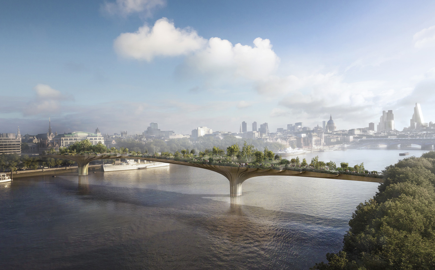 816  01 HR GardenBridge CREDIT Arup. Proyecto Garden Bridge en Londres, de Thomas Heatherwick