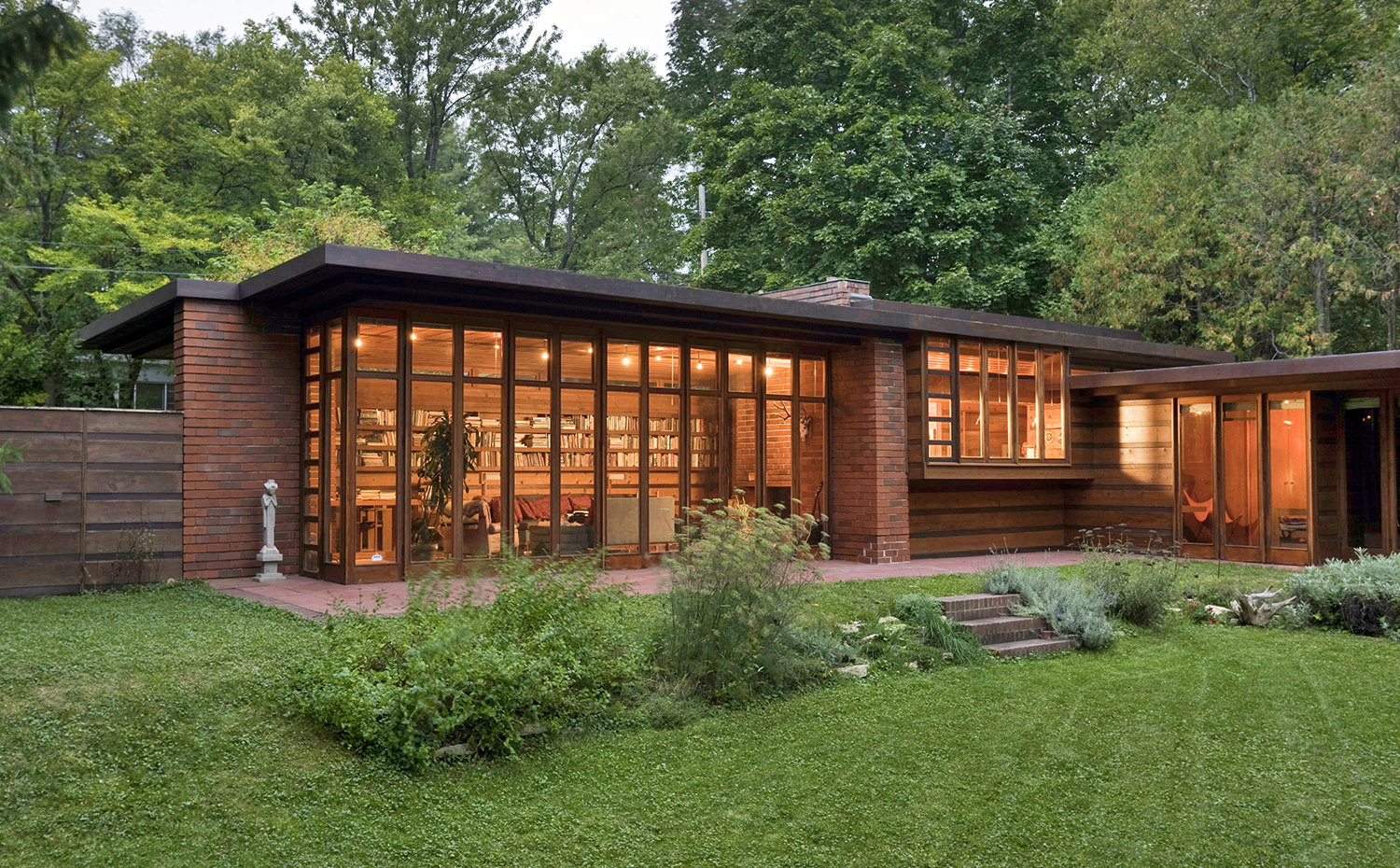 Herbert and Katherine Jacobs house (Madison, Wisconsin, 1936) Frank Lloyd Wright