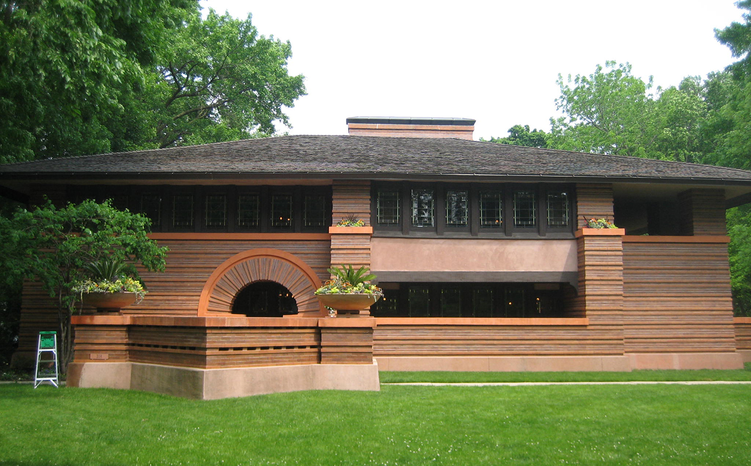 Arthur Heurtley house, en Oak Park, Illinois (1902) de Frank Lloyd Wright