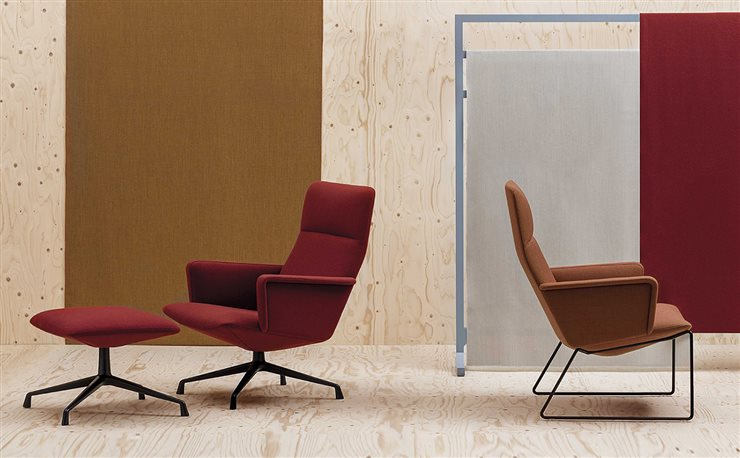 La butaca Capri Lounge, de Piergiorgio Cazzaniga para Andreu World, ganadora del Best of NeoCon Gold Award