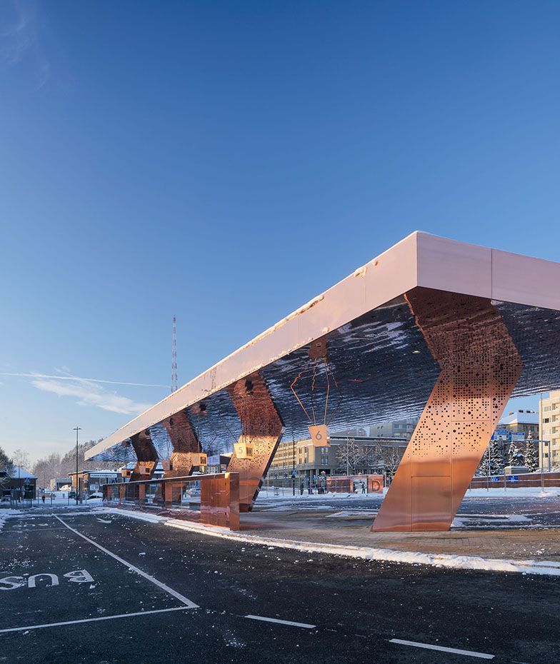 Lahti Travel Centre -®Mika Huisman. Estación de Lahti, Finlandia, JKMM Architects