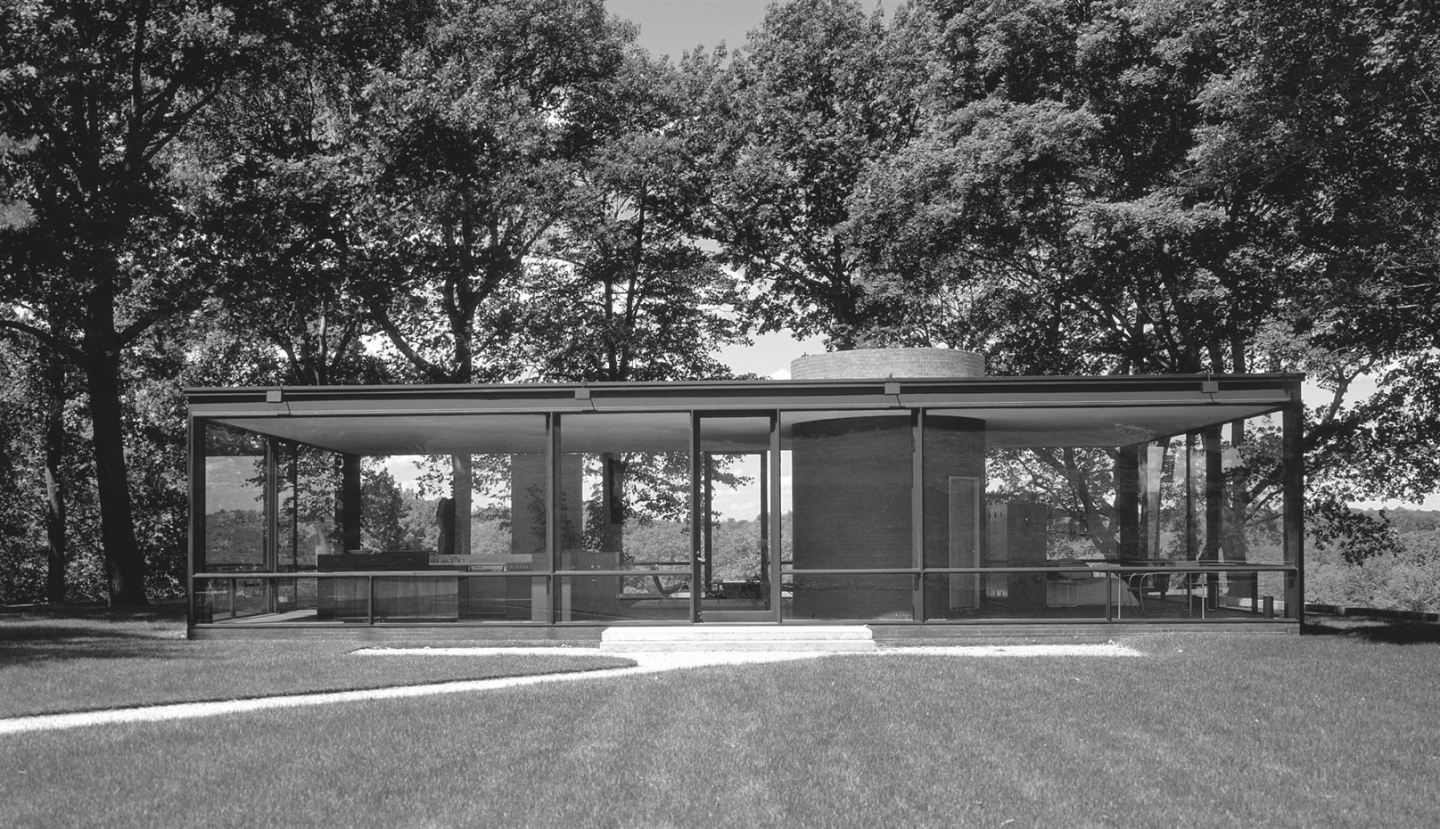Philip Johnson: The Glass House, New Canaan, Connecticut, EEUU, 1949