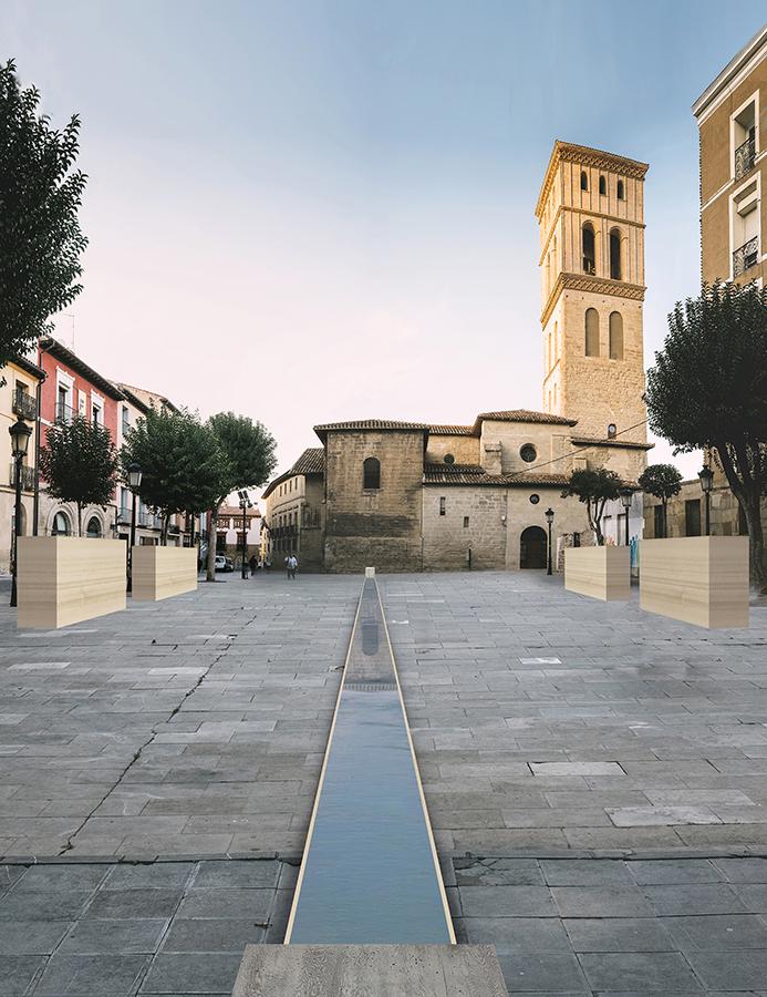 Proyecto La Plaza, de Lucas Seré Peltzer y Sebastián Andrés Podestá, para la plaza de San Bartolomé.