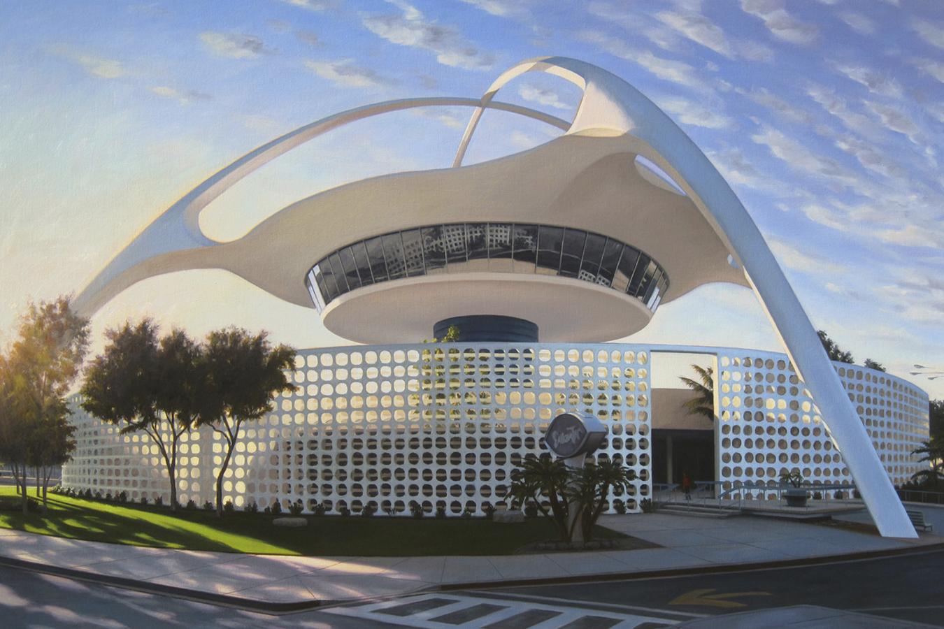 Theme Building en el aeropuerto de Los Ángeles.