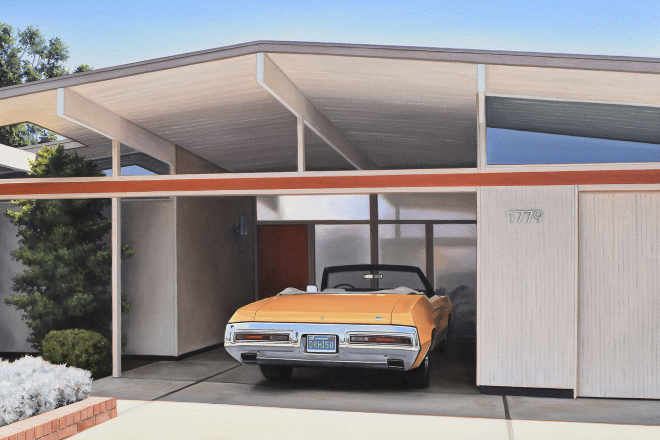 Eichler with convertible.