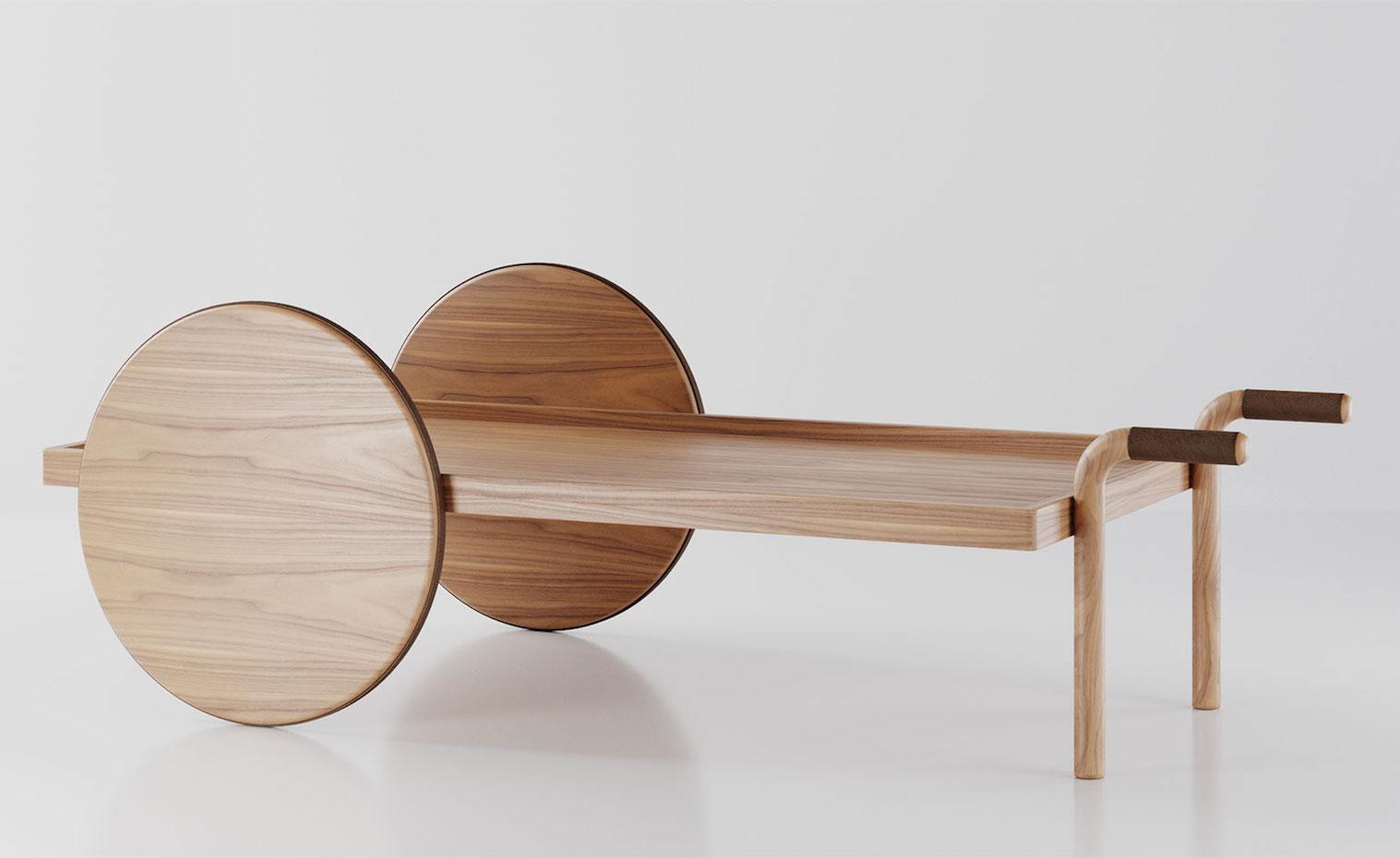 La mesa Barrow se inspira en los aperos de labranza.