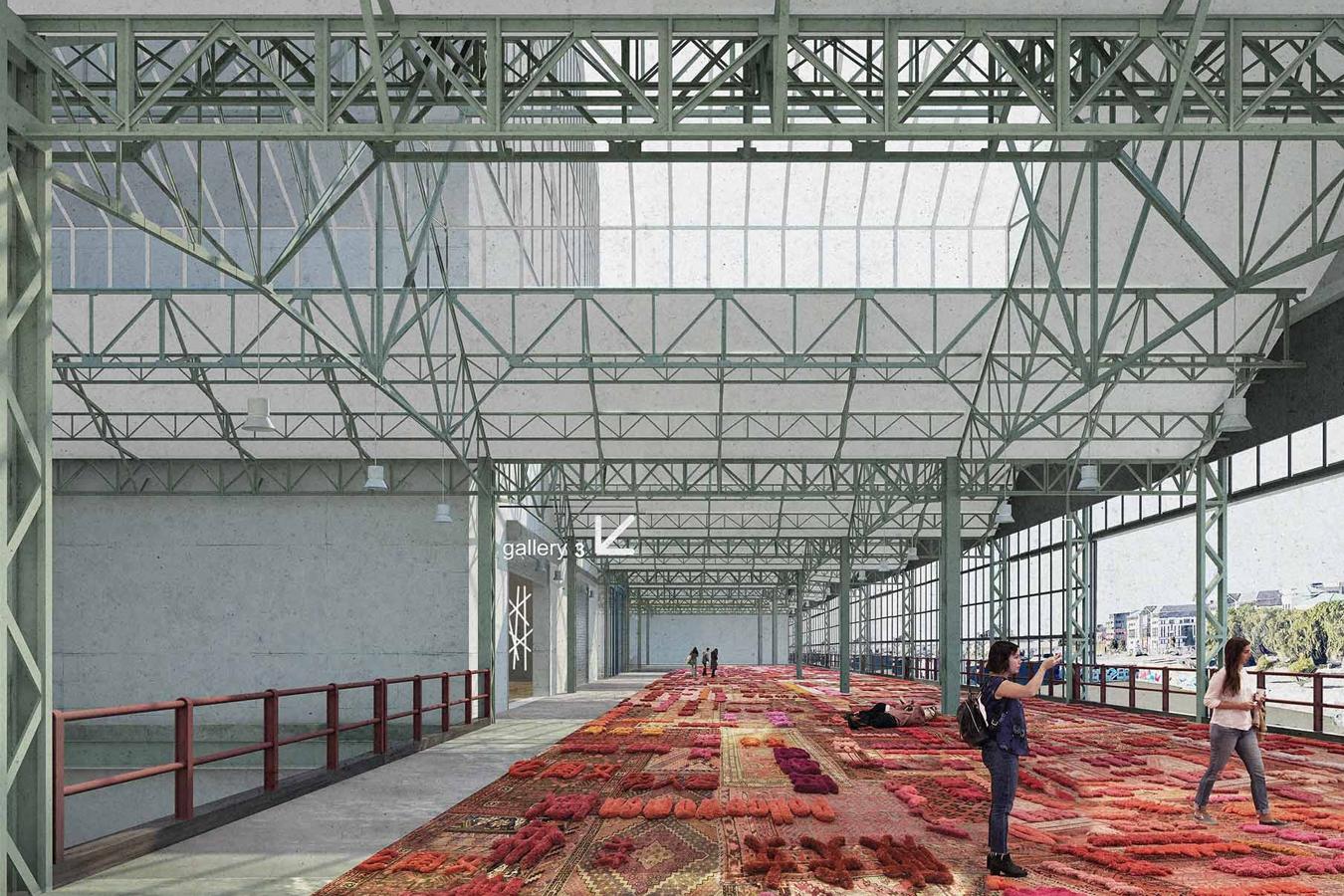 El interior del edificio dialogo con su entorno
