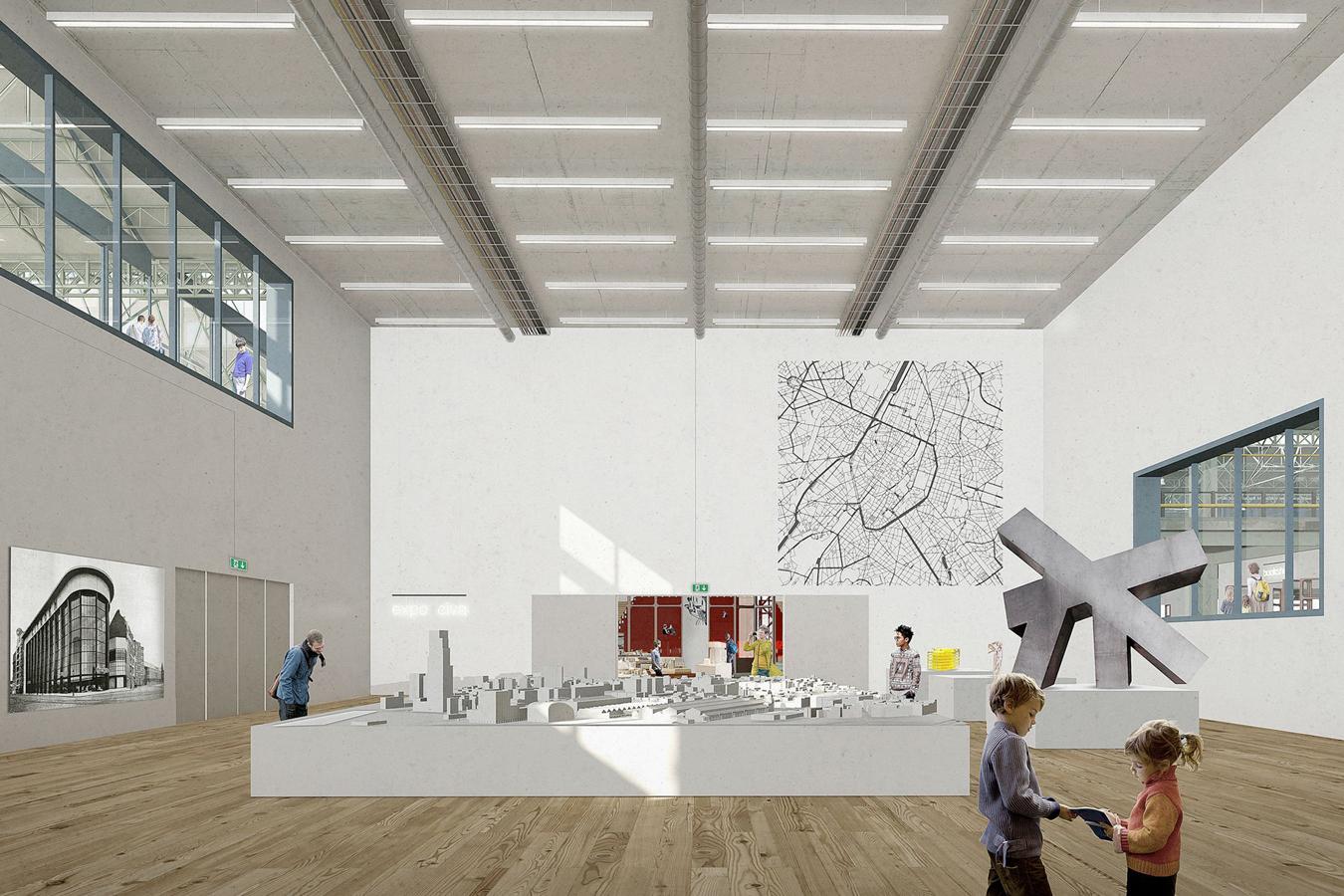 Las salas de exposición son configurables.