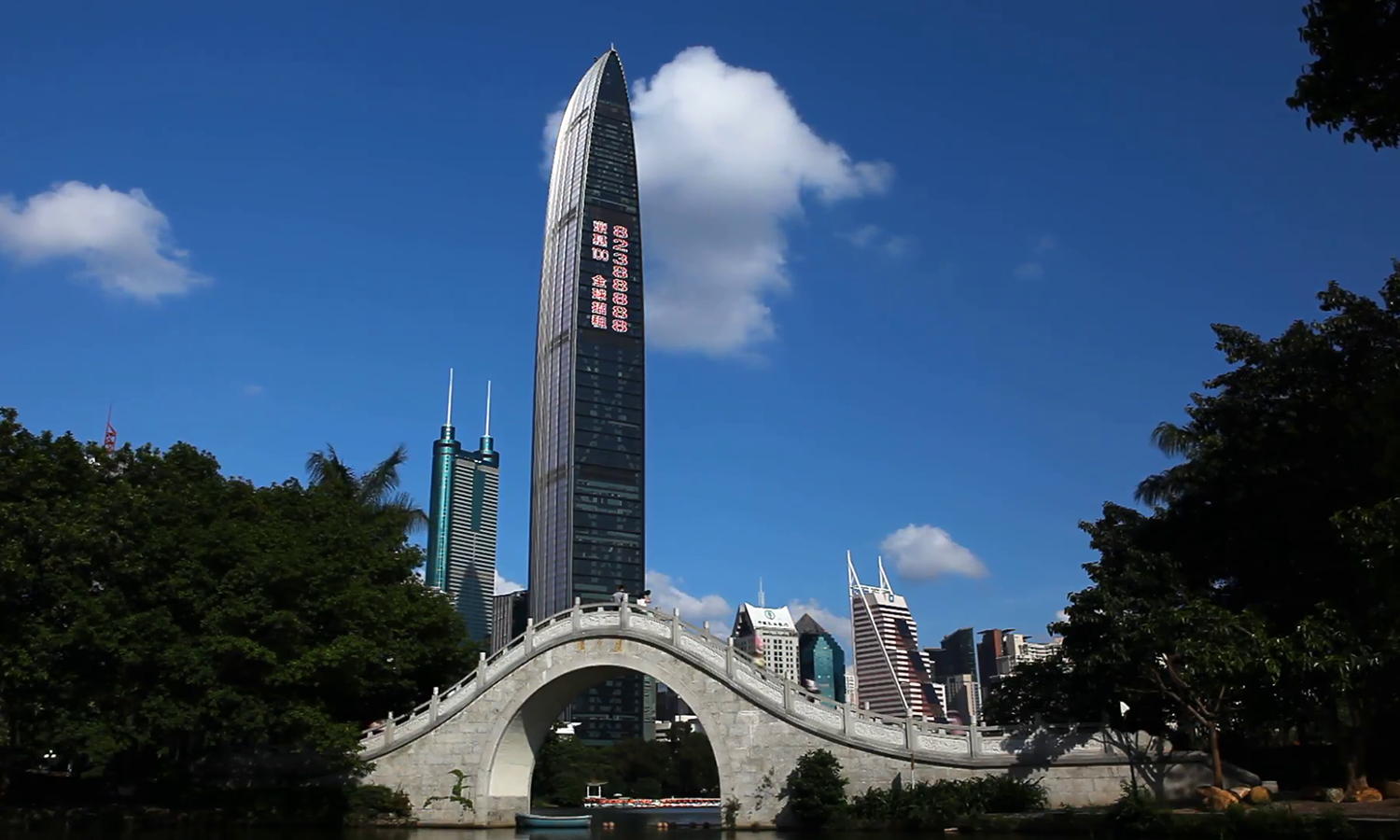 2011 shenzhen-sez-china-lychee-park-kingkey-100-shun-hing-square-time-lapse-editorial-footage-news-documentary 4wbfbnwog  F0000. [2011] Kingkey 100, Shenzhen, China, Terry Farnell & Partners (442m)