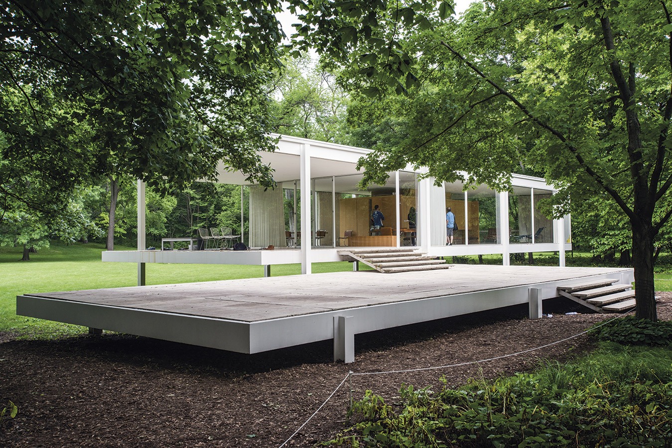 Chicago-web-Architecture Mies Farnsworth House Plano 0058. [14] Chicago, my kind of town