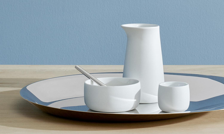 La colección diurna destaca por el color blanco de la porcelana