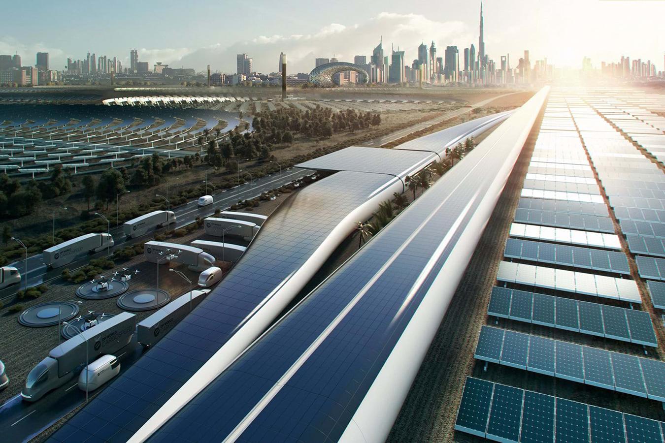 Sistema de transporte hyperloop DPWorld Cargospeed.