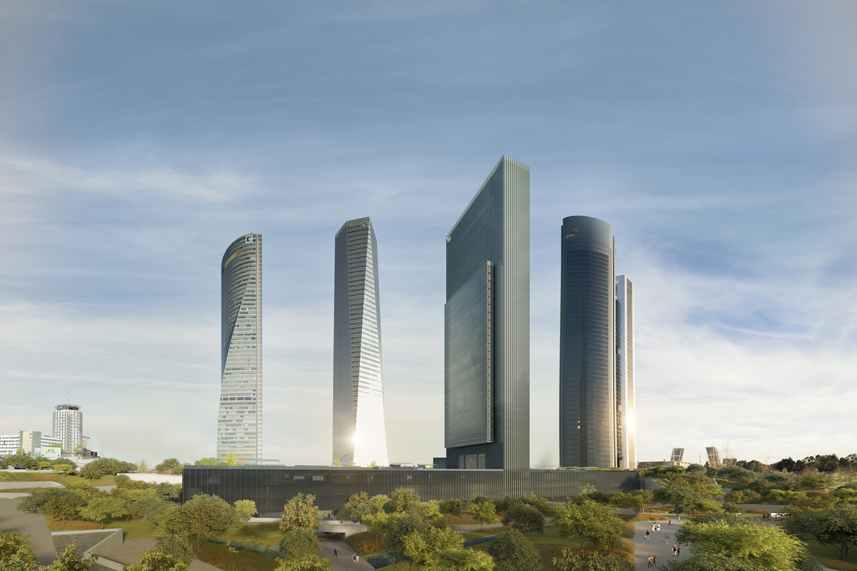 La torreCaleido vista desde la avenida Montforte de Lemos.