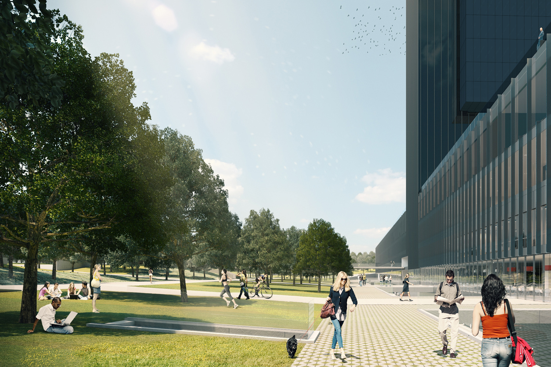Las zonas verdes tendrán gran protagonismo en el proyecto.