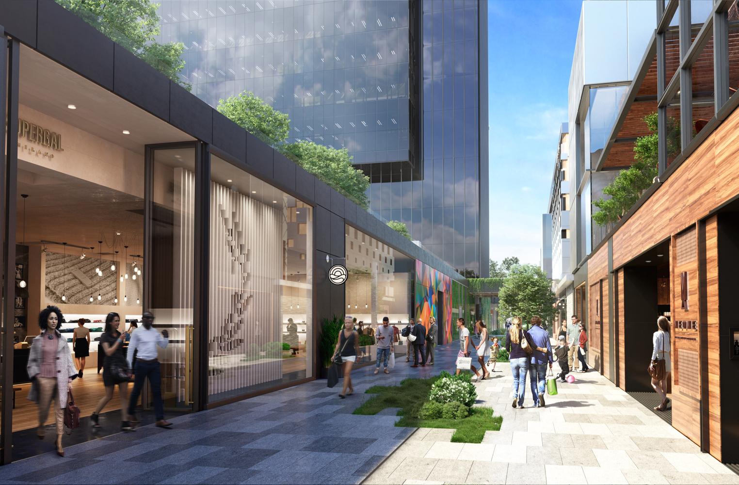 Caleido albergará una gran zona comercial.