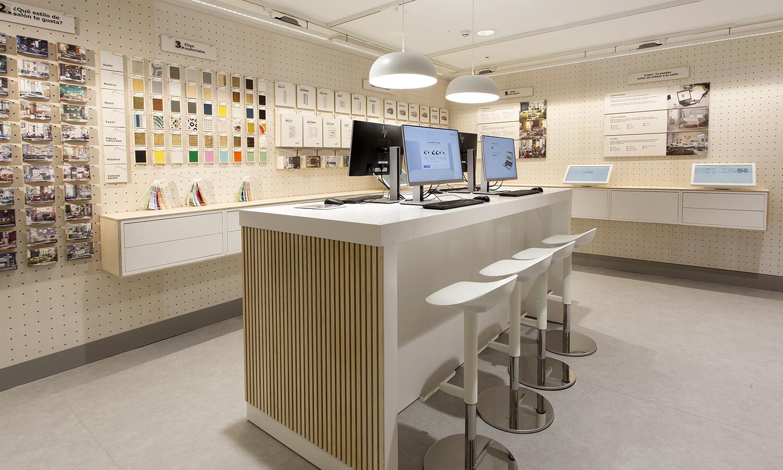 El espacio interactivo para diseñar el estilismo de los salones.