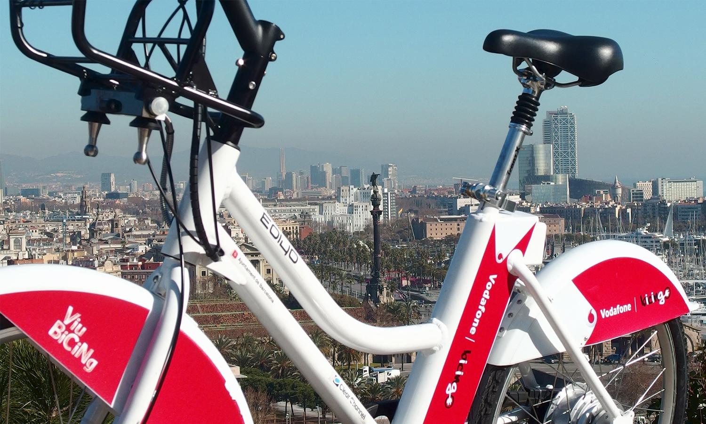 Bicing, el servicio de alquiler de bicicletas urbanas de Barcelona.