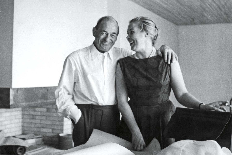 Alvar Aalto con su primera mujer Aino, con quien creó la editora de diseño Artek.