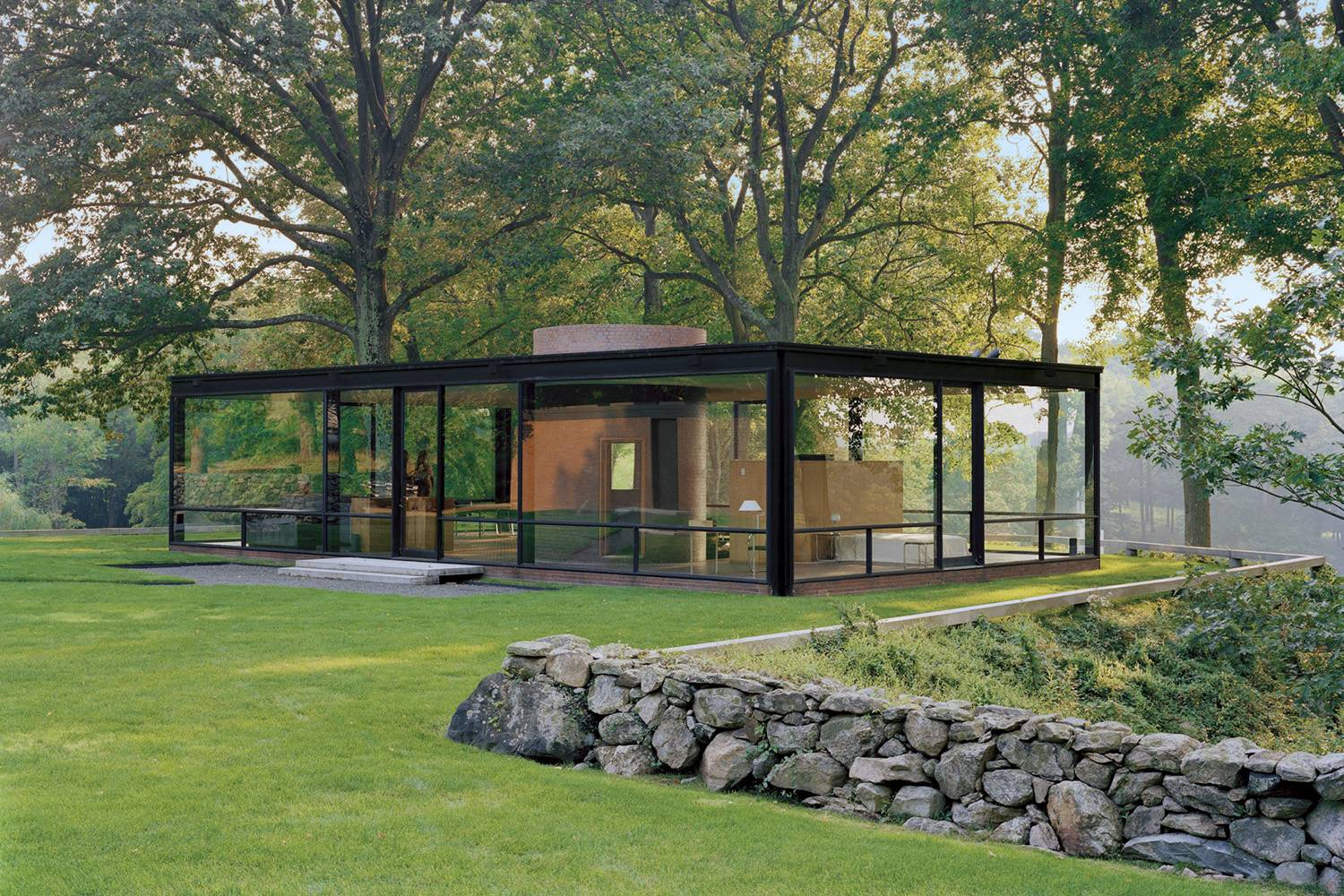 Glass House, New Canaan, Connecticut, 1949.