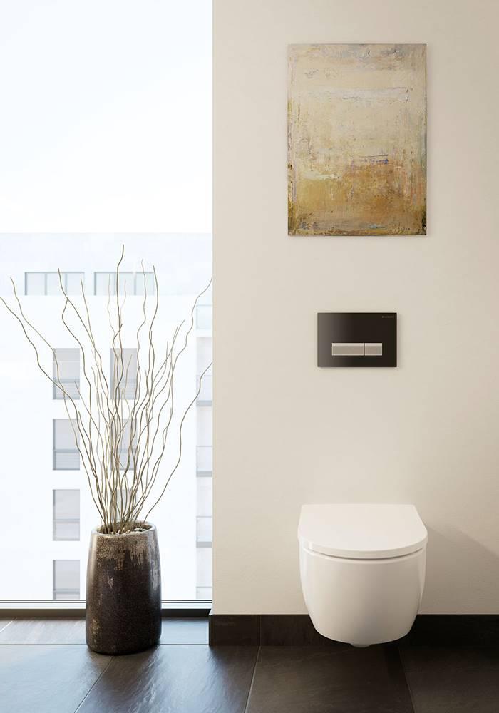 El inodoro para cisterna empotradaiCon, de Geberit, dispone del sistema Rimfree, una tecnología de descarga sin rebordes para la salida del agua que garantiza la adecuada limpieza del inodoro después de cada uso, evitando la acumulación de suciedad y la proliferación de gérmenes.
