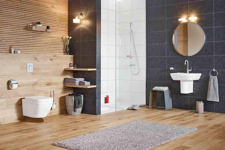 Con el lanzamiento de su líneaEuro, Grohe se introduce en el mundo de los sanitarios y se posiciona como un proveedor integral de productos y servicios para el baño. Euro presenta una ventaja muy atractiva para espaciospequeños gracias a su tamaño compacto.