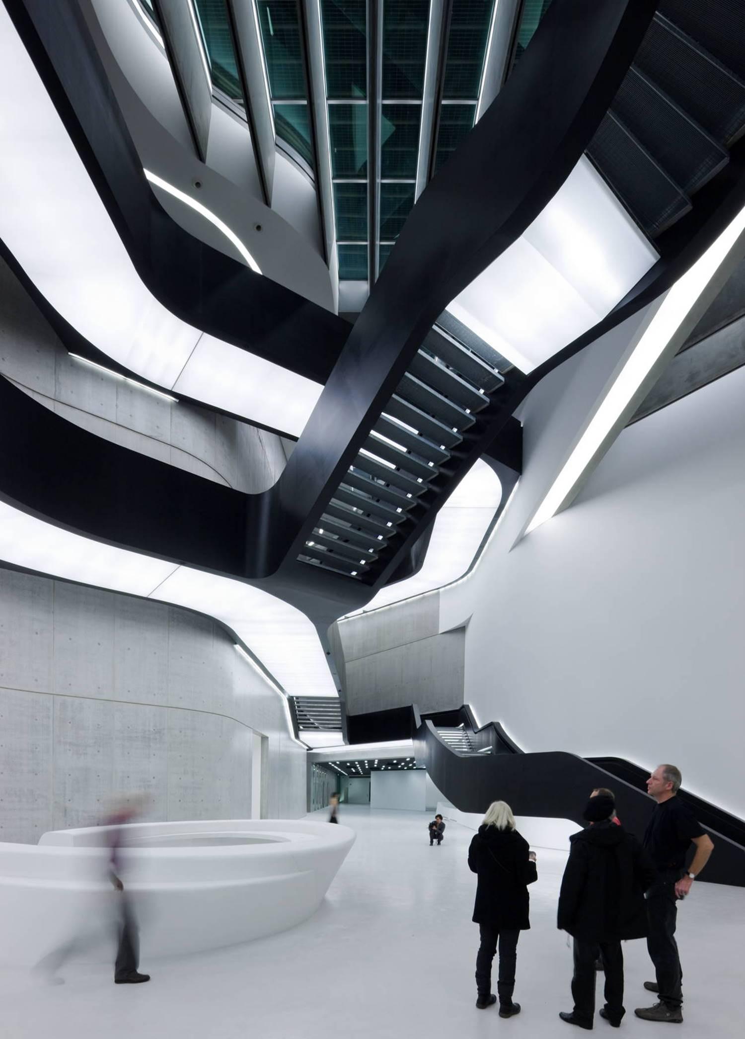 Interior del Museo MAXXI de Roma.