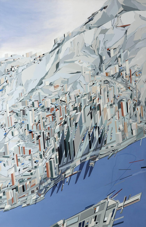 """Pintura para el proyecto """"The Peak Leisure Club""""."""