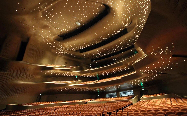 Sala principal de la Ópera de Guangzhou.