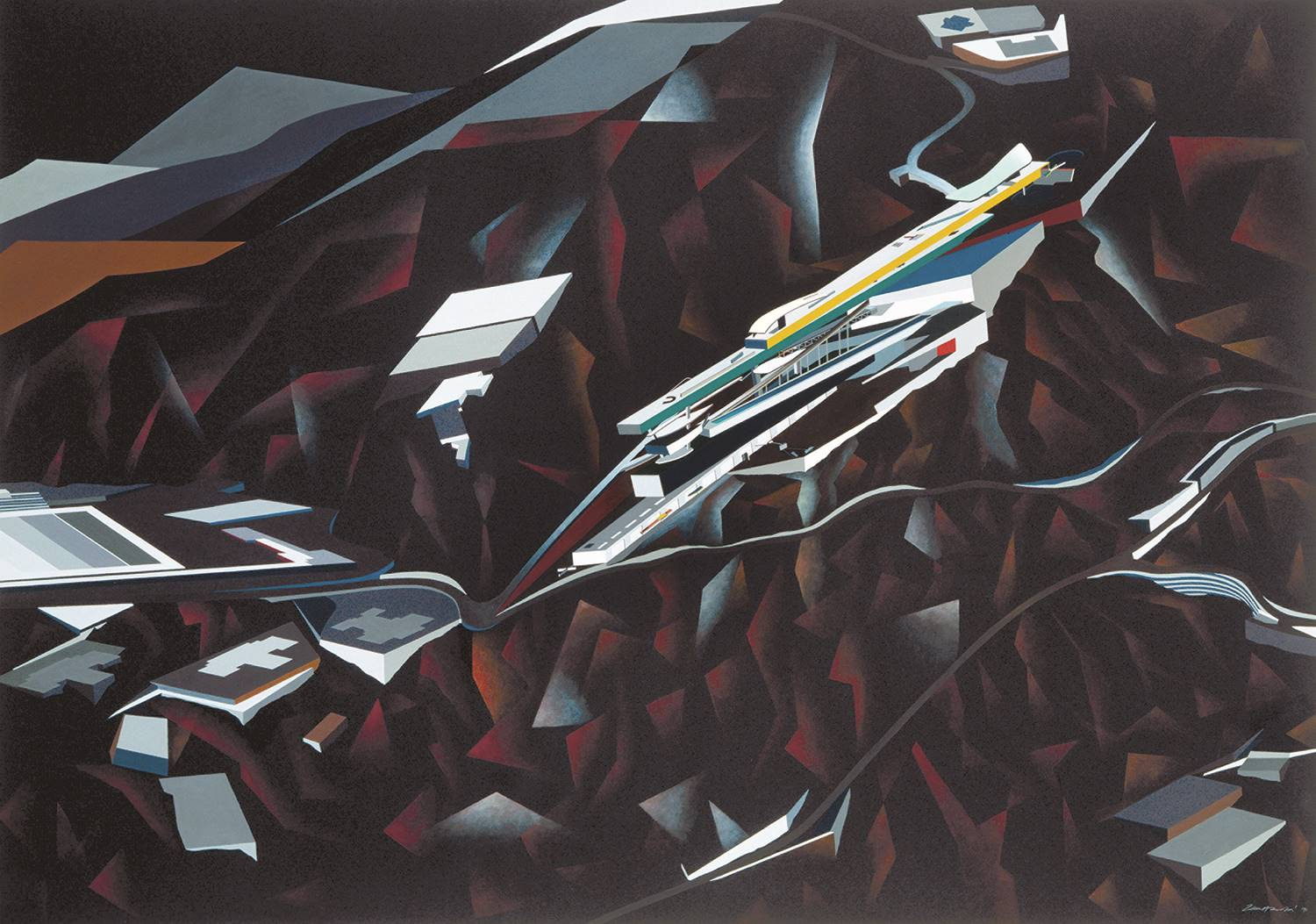 Zaha Hadid, Leisure Club, 1982.