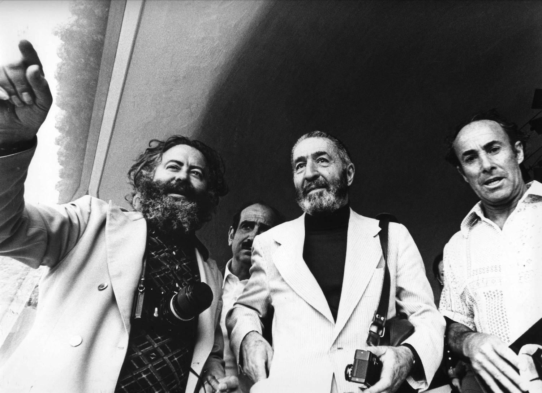 Fernando con Félix Candela y César Manrique.