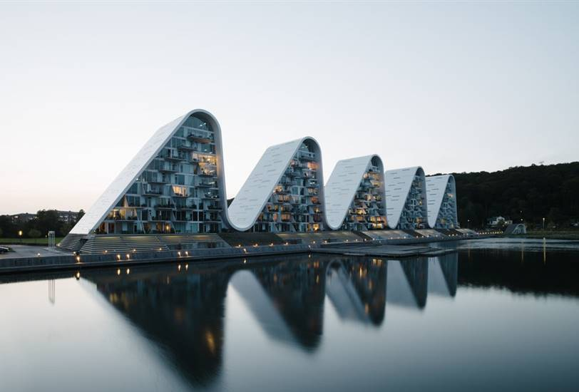 The Wave, por Henning Larsen Architects.