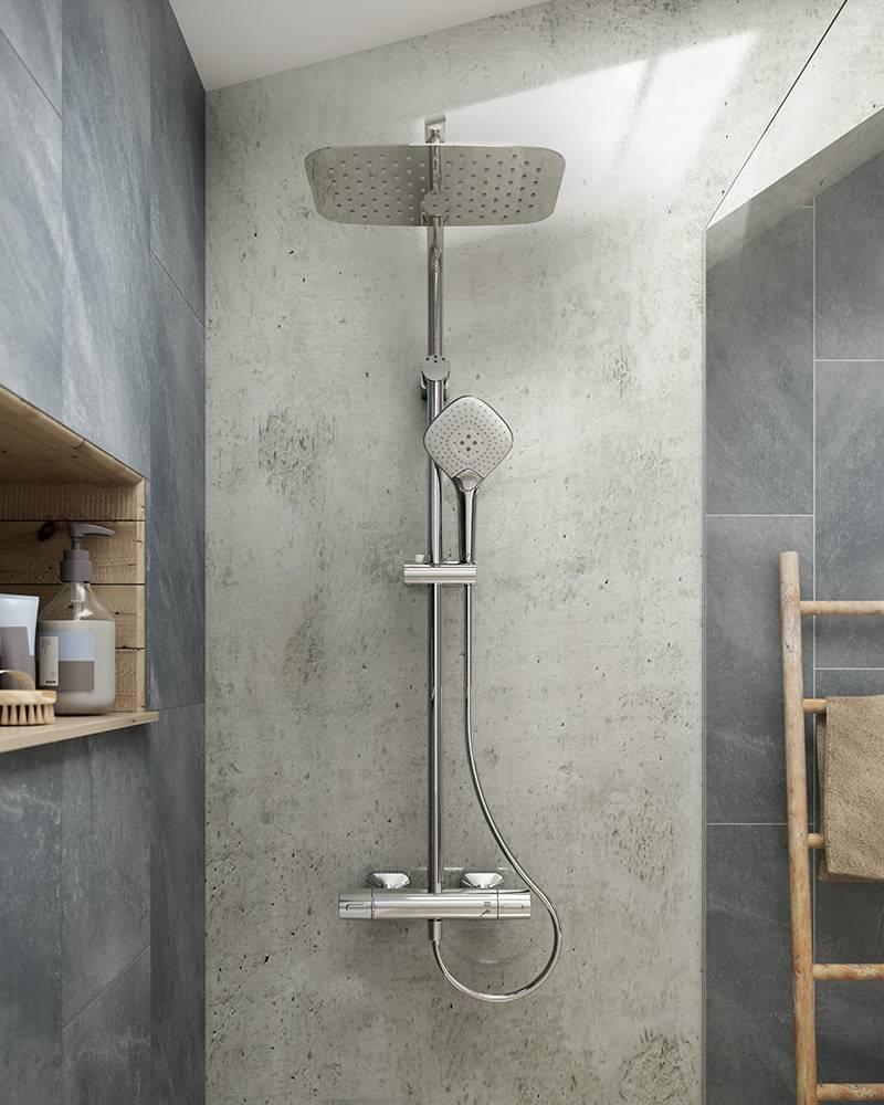 Pon una columna a tu ducha rociador Idealrain EVO Jet Diamond, de Ideal Standard