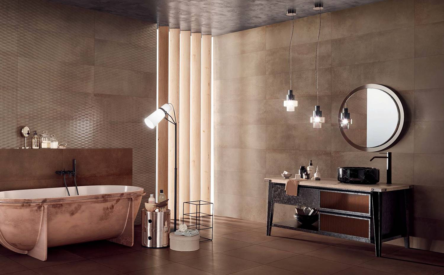 Tendencia Dramatic Interior. Colección Metallic, de Love Tiles.