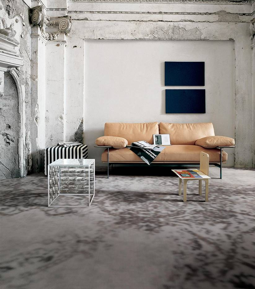 Tendencia Dark & Watercolor. Alfombra Grand Carpet, de Antonio Citterio y Patricia Viel para Marazzi.