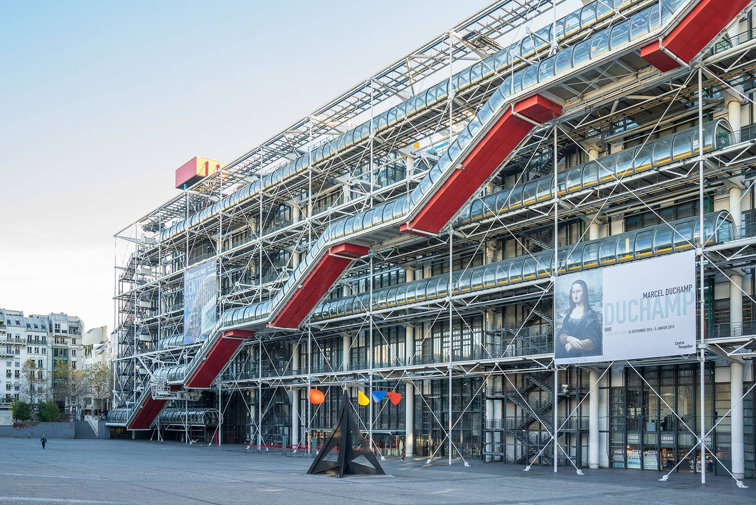 Centro Georges Pompidou, París, Richard Rogers y Renzo Piano (1977)