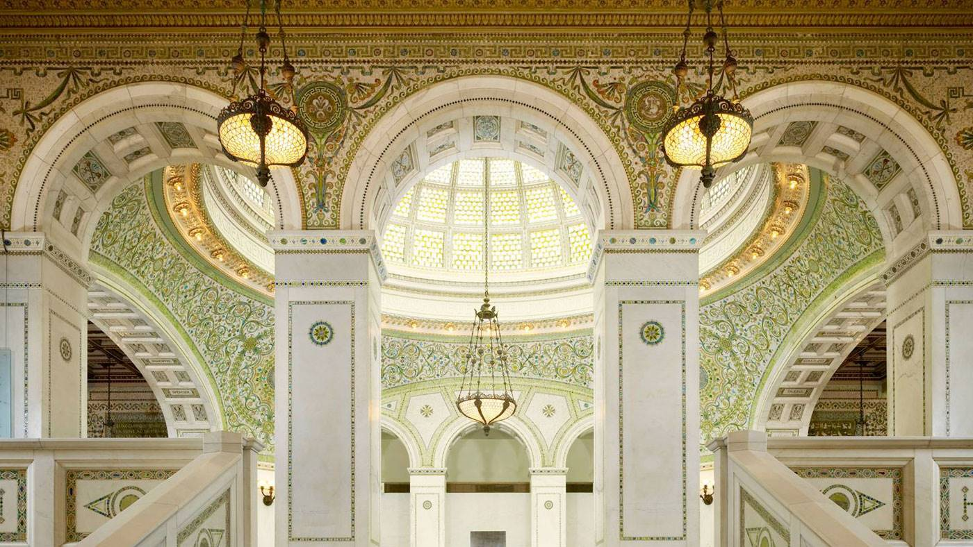 Chicago Cultural centre. [] Chicago Cultural centre