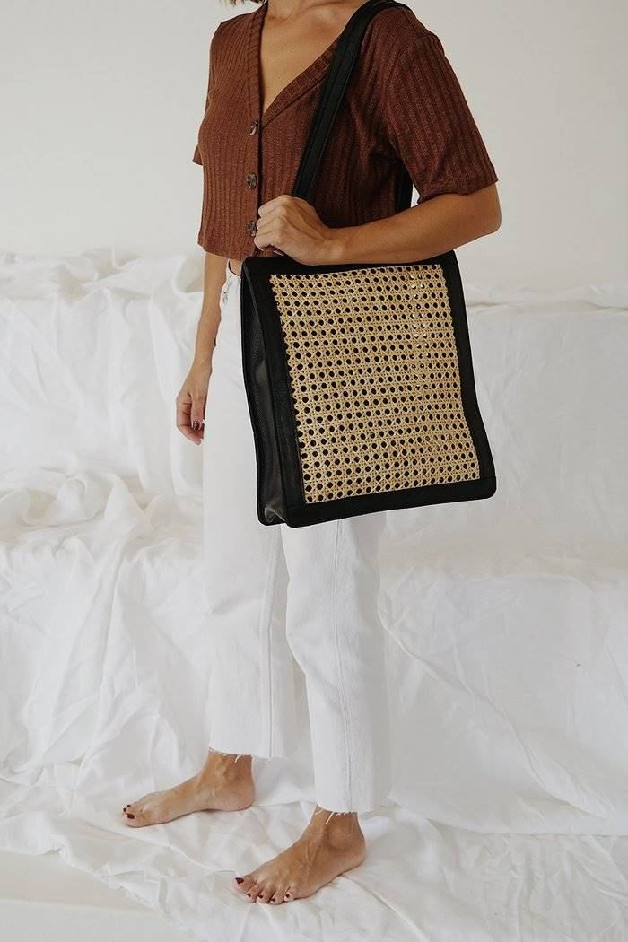 st. agni HENNIR EVERYDAY RATTAN BAG