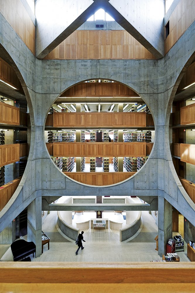 Biblioteca de la Phillips Exeter Academy, New Hampshire, 1965.