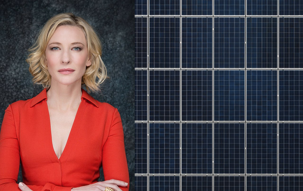 Cate Blanchet paneles solares