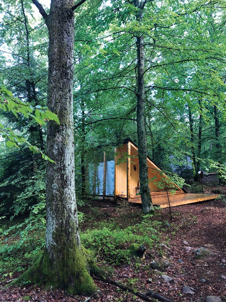cabana del hotel rural en Suecia Stedsans in the woods