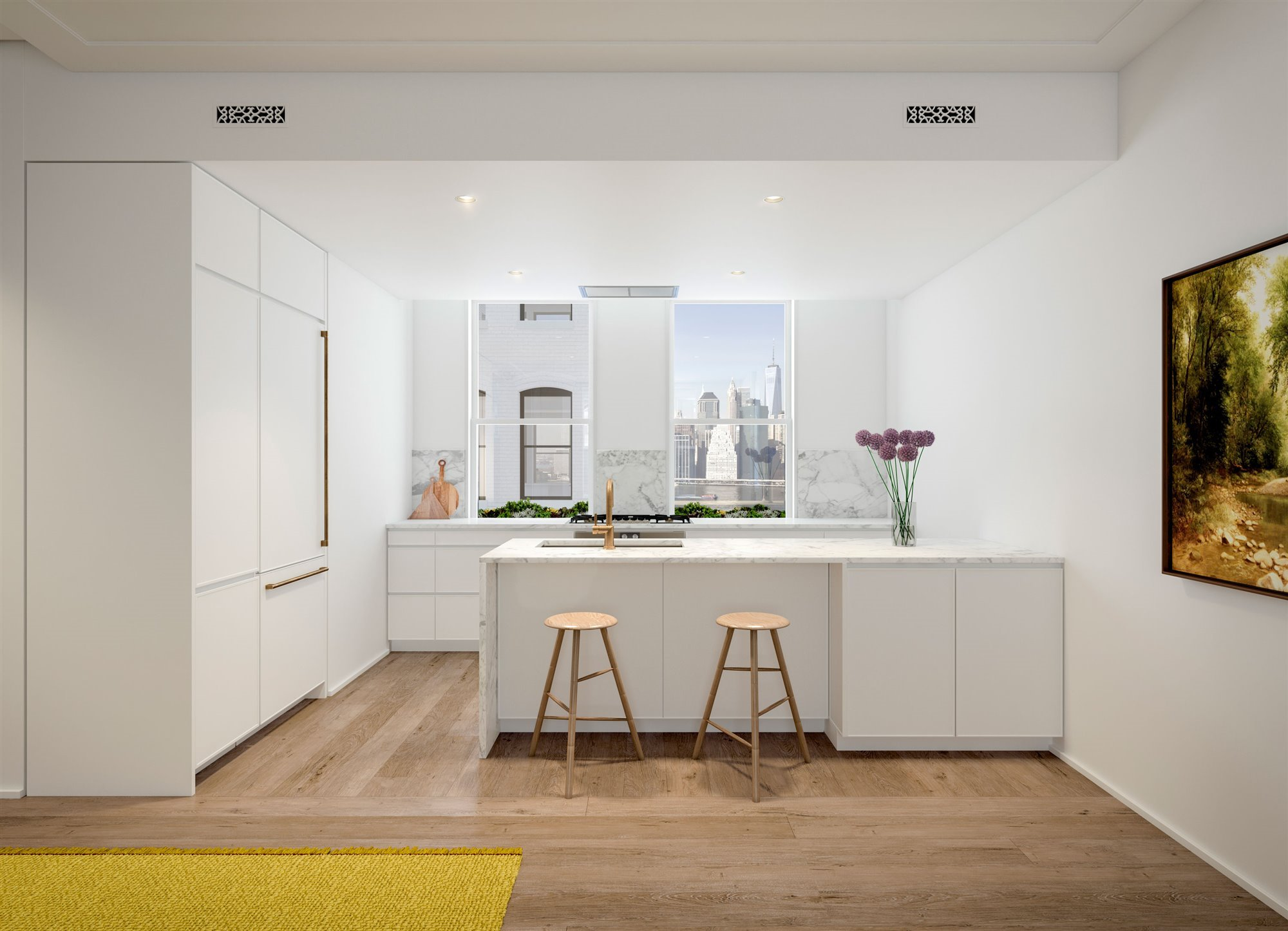 CH Kitchen 0524-1. Cocina blanca loft The Standish Brooklyn