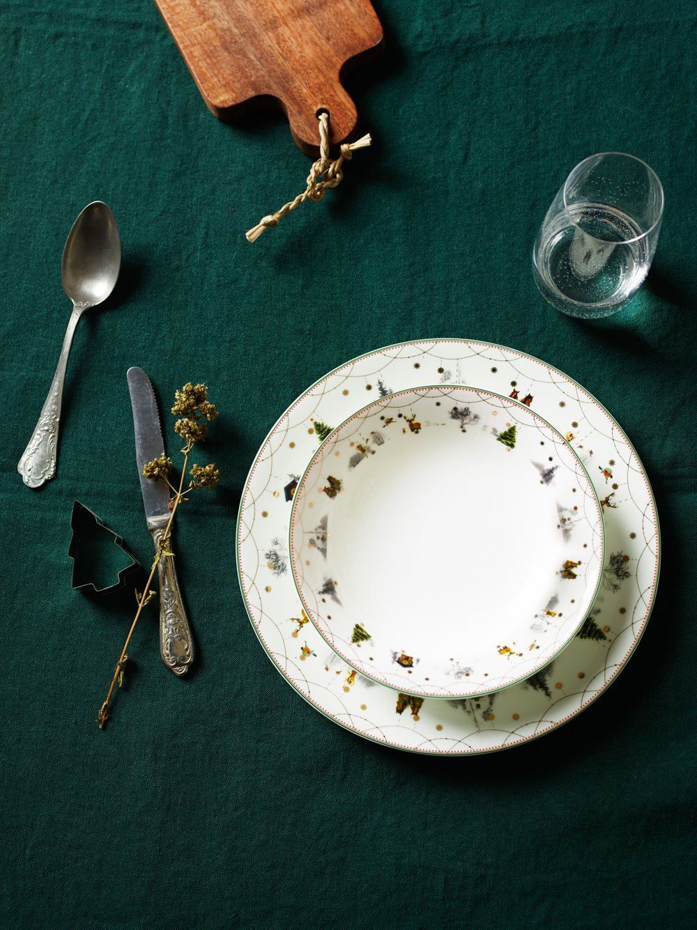 Julemorgen placesetting board