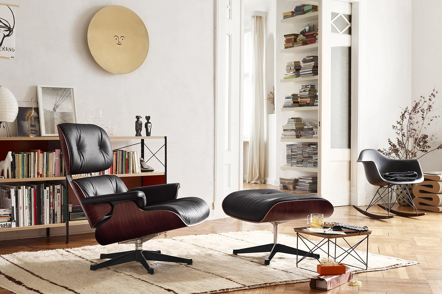eames 2887841 Lounge Chair y otomana