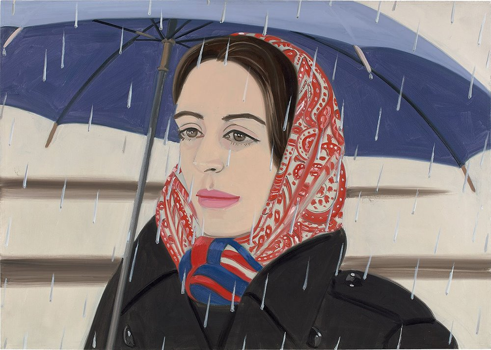 Blue umbrella nº 2, de Alex Katz